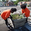 Students working at the Foundry during Bengals Dare to Care Day at Buffalo State College.
