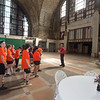 Students touring after a clean up at Central Terminal during the Bengals Dare to Care Day at Buffalo State College.