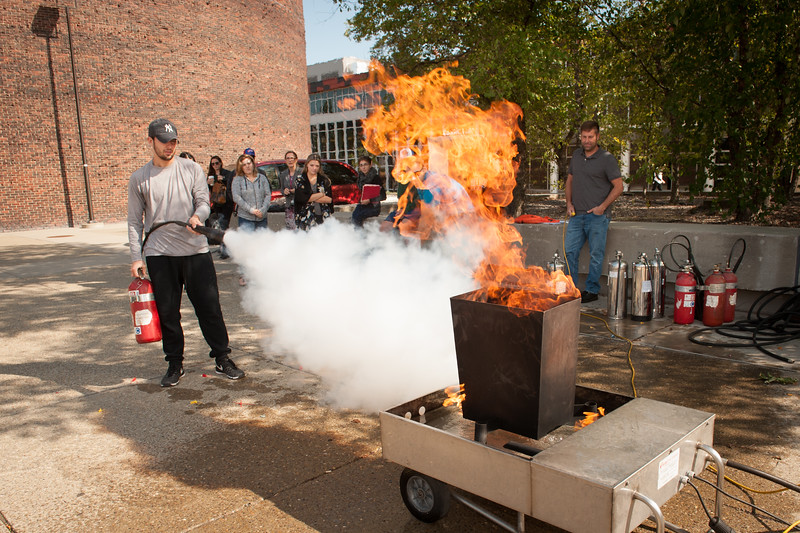 Hospitality and Tourism fire safety exercise at Buffalo State College.