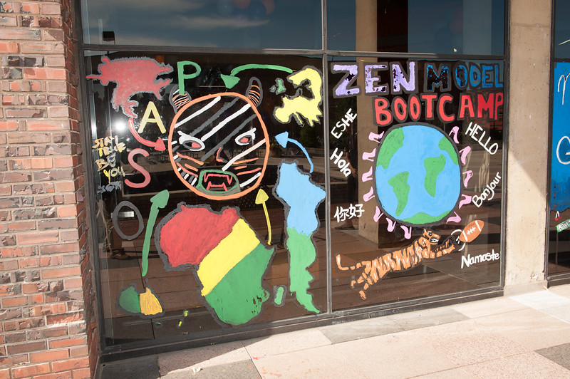 Campbell Student Union decorated for Homecoming at Buffalo State College.