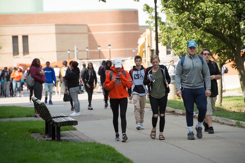 Campus scenics at Buffalo State College.