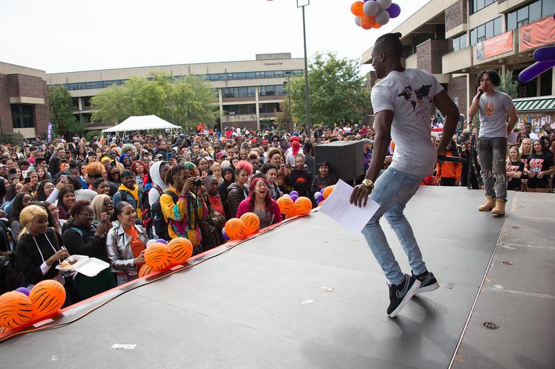 Homecoming pep rally at Buffalo State College.