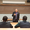 Civil rights lawyer, Michael Sussman meets with the Buffalo State College student chapter of the NAACP.