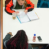 Student studying in Student Union at SUNY Buffalo State College.