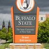 Grant Street entrance sign at SUNY Buffalo State College.