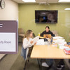 Students working together in Group Study Room in E.H. Butler Library at SUNY Buffalo State College.