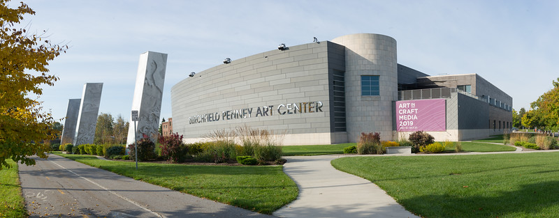 Panorama of Burchfield-Penney Art Center at SUNY Buffalo State College.