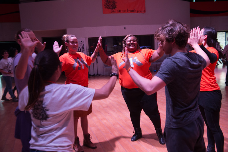 """""""Flying to Learn/Learning to Fly"""" workshop during the Anne Frank Project Social Justice Festival at SUNY Buffalo State."""
