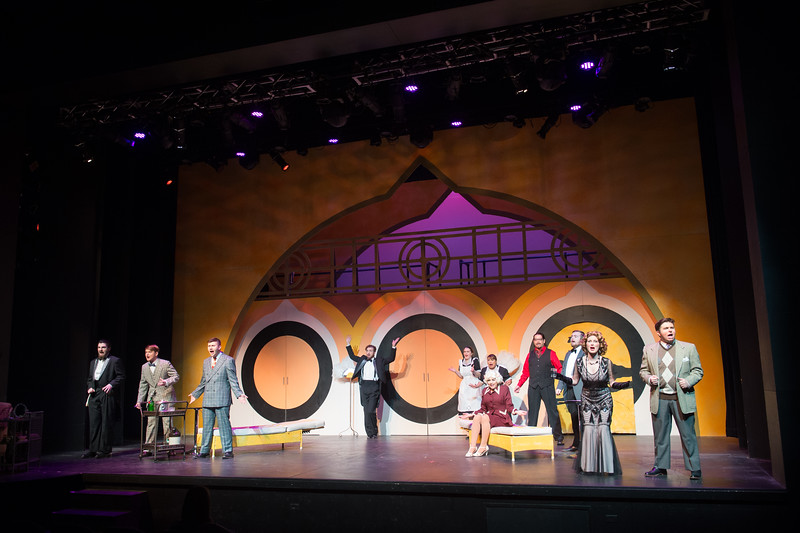 "Student theater production of ""The Drowsy Chaperone"" at SUNY Buffalo State College."