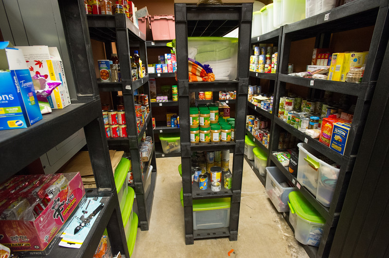 Milligan's food pantry at SUNY Buffalo State College.