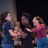 Theater student Zoe Gonez performing at the New Student Showcase at SUNY Buffalo State College.
