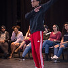 Theater student Amir Whitehead performing at the New Student Showcase at SUNY Buffalo State College.