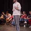 Theater student Stephen Weisenburger performing at the New Student Showcase at SUNY Buffalo State College.