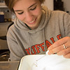 Undergraduate student research assistant, Megan Calcaterra working in Dr. Robert Warren's lab at SUNY Buffalo State College.