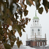 Winter campus scenics at SUNY Buffalo State College.