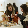 Art and Design student art sale at SUNY Buffalo State College.