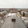 Campus scenic from Rockwell Hall bell tower at Buffalo State College.