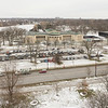 View of Albright-Knox Art Gallery and Hoyt Lake from Rockwell Hall bell tower at Buffalo State College.