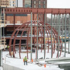 New Planetarium during Science and Math Complex final construction phase at Buffalo State College.