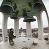 Memorial bells in Rockwell Hall bell tower at Buffalo State College.