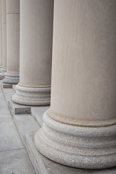 Rockwell Hall columns at Buffalo State College.