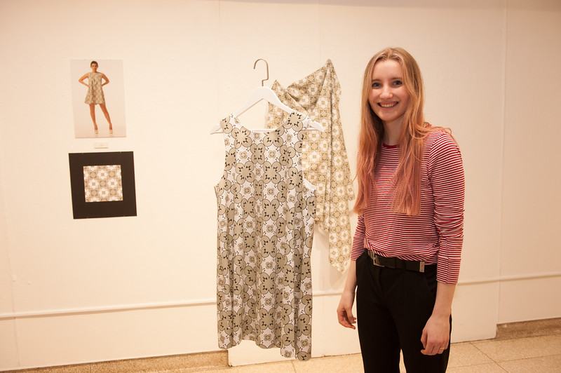 """""""Interconnect"""" collaborative art show featuring Design Department, Fashion Design and Eckert Herbarium in Czurles-Nelson Gallery at Buffalo State College."""