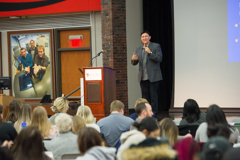 """""""Fostering Resilience"""" talk by Dr. Darryl Tonemah at Buffalo State College."""
