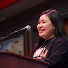 Honors student, Mu Htoo  speaking at the Honors Programs Celebration at Buffalo State College.