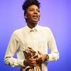 Theater student Kayla Bennett performing at the Theater Department Senior Showcase at Buffalo State College.
