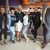 Students posing with Chief  Diversity Officer Dr. Karen Clinton-Jones at Buffalo State College.