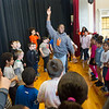 "Buffalo State Anne Frank Project students performing ""Level Up"" show for students at Roosevelt Elementary School."