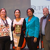 Minnie and Joe Engel Student Humanitarian Award winner, Xylina Ulloa receiving award during the Student Leadership Awards ceremony at Buffalo State College.
