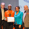 SUNY Chancellor's Award for Student Excellence winner, Zhanna E. Reed receiving award during the Student Leadership Awards ceremony at Buffalo State College.
