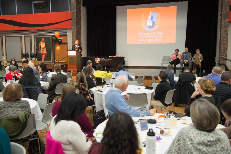 Celebration of Community Service awards ceremony at Buffalo State College.