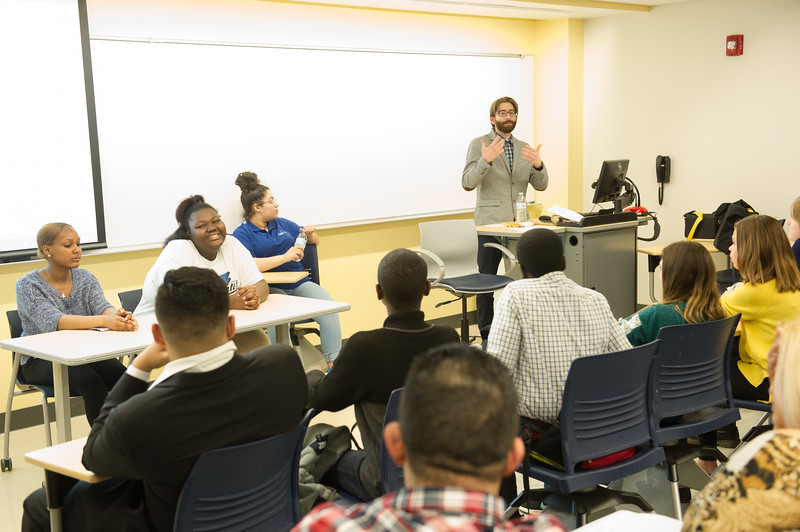 """English Department """"Youth Voices"""" event at Buffalo State College."""