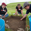 Buffalo State College Anthropology Department Archaeological Field School dig at Old Fort Niagara lead by Dr. Susan Maguire.