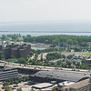 Panorama of downtown Buffalo, Skyway and lakeshore.