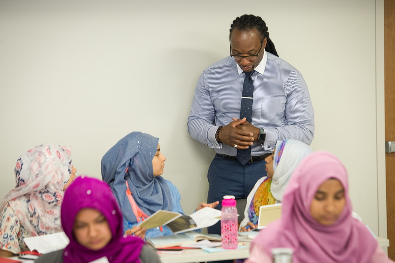 speaks to Say Yes Program students at Buffalo State College.