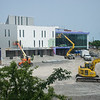 Construction shot of Science and Mathematics Complex (SAMC) addition at Buffalo State College.