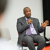 Rwandan genocide survivor Pascal Karangwa speaking at the Buffalo State College Anne Frank Project (AFP) Social Justice Fellows program for teachers.