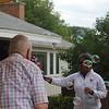 SUNY Buffalo State Kenzie Scholars BBQ held at Ross Kenzie's home.