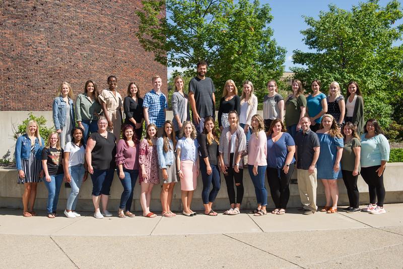 Speech Language Pathology student group photo at Buffalo State College.