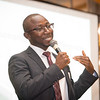 New York State Teacher of the Year, Alhassan Susso speaking at the  SUNY Buffalo State College Professional Development Schools (PDS) Retreat held a the Grand Buffalo Hotel and Event Center.
