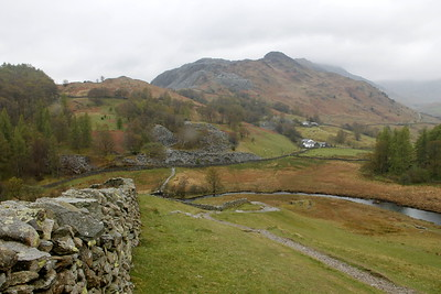 Little Langdale, way down to Slater Bridge