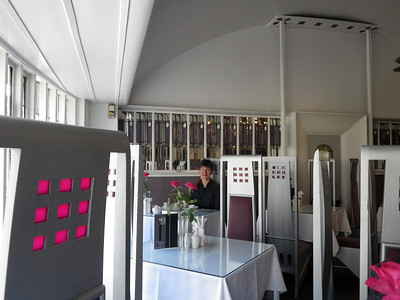Day 1 of walking - Breakfast in style at the Willows Tea rooms, another example of Mackintosh design.