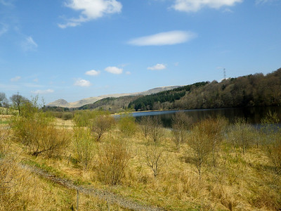Easy walking on a sunny and warm day, what more can you ask for? Craigallian Loch - the first loch on route.