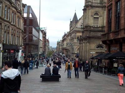 Stroll along Buchanan Street in Glasgow