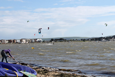 Kitesurfers at Poole Harbour