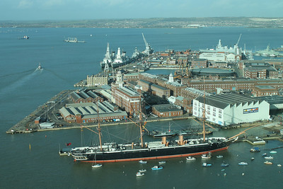 Historic Dockyard seen from Spinnaker Tower