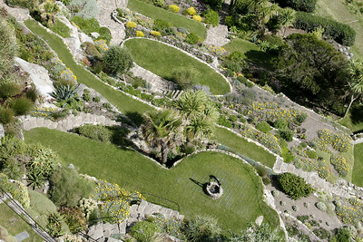 Bird's eye view on gardens